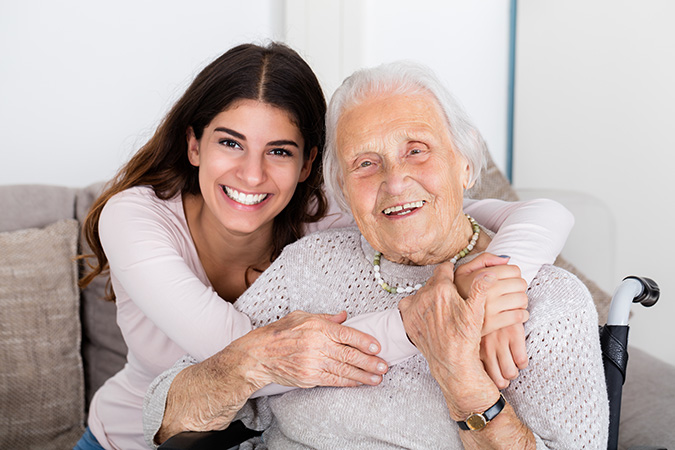 Care-giver that need help with her elderly mother